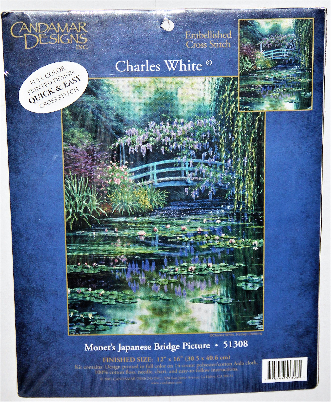 View From Monet/'s Bridge Candamar Cross Stitch Kit