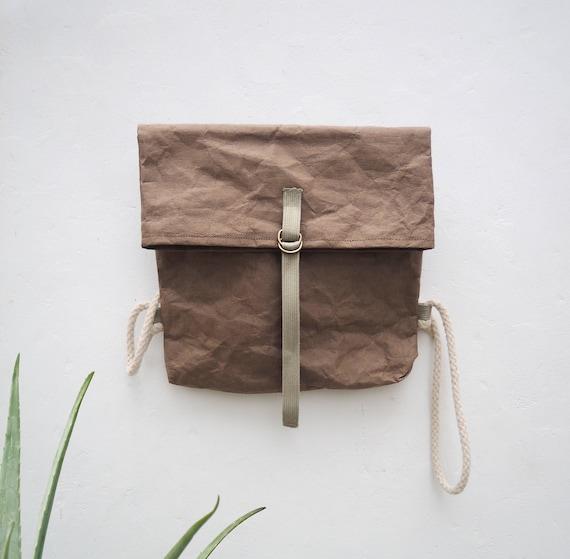minimale rucksack papier stoff rucksack eco rucksack etsy. Black Bedroom Furniture Sets. Home Design Ideas