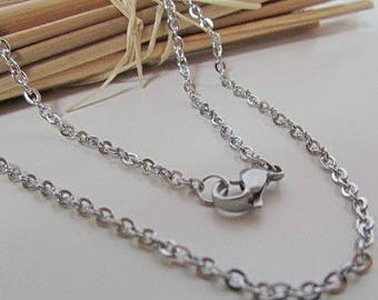 Necklace chain 48cm, stainless steel Choker link 2 x 1.5 mm - 72.50