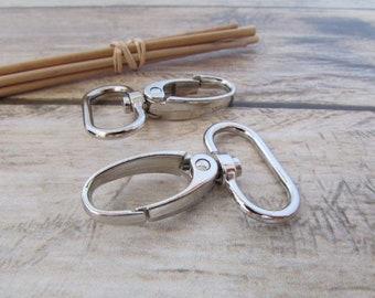 82581eb66d9bc0 4 moschettone per il manico della borsa del metallo di 25 mm - argento -  31