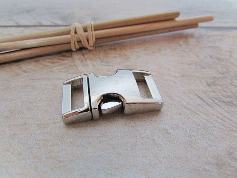 883f1e7191c Boucle clip 3 x 1.5 cm attache rapide en metal argenté doré