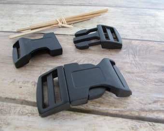 Model 4 black plastic quick release clip loops for strap 1, 2, 1.5 and 2.5 cm
