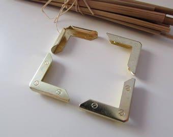 12 corner book gilded to protect book or album - 2.3 x 2.3 x 0.5 cm - ref 38.51