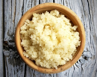 MANUKA HONEY, 30+ Facial Scrub - Shea butter, sea salt, almond oil, skin healing, nourishing, healing, glowing skin
