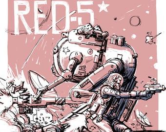 Red-5 poster, Wonderland poster, Futuristic poster, Science fiction poster, Mecha poster, Mecha art print, Robot poster, Cyberpunk art