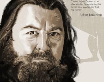 Robert Baratheon poster, House baratheon poster, kinf robert poster, game of thrones poster , got poster, game of thrones art print