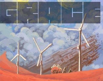 Grace poster, Futuristic poster, Science fiction poster, Alien planet exploration, Sci-fi art-print, Space exploration