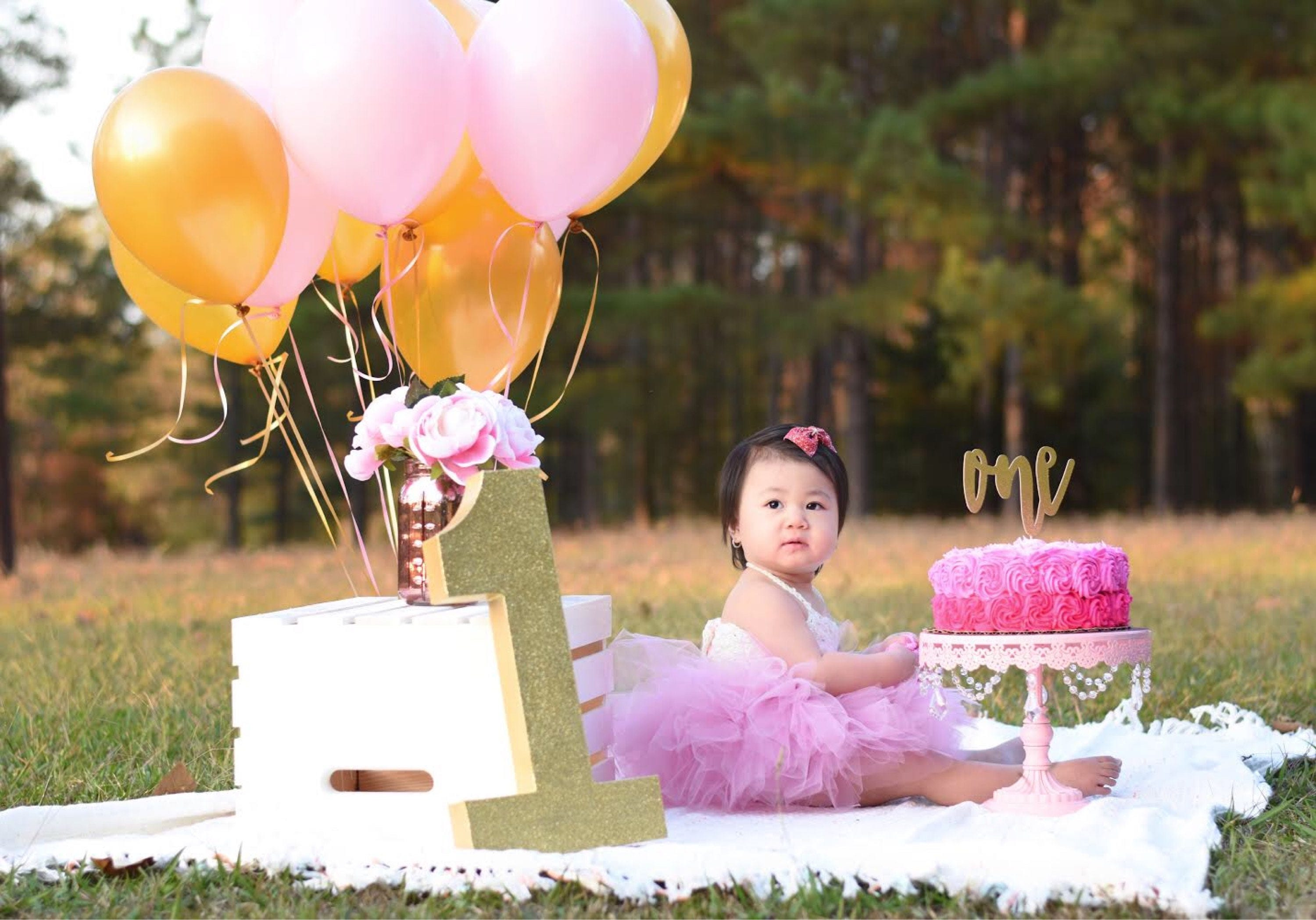 Number 1 Photo Prop First Birthday 1st One Giant