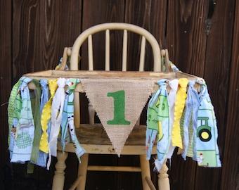 High Chair Banner, Farm 1st Birthday, Deere Inspired, Tractor 1st Birthday, Farm Banner,Tractor Banner, 1st Birthday Banner, Baby Shower