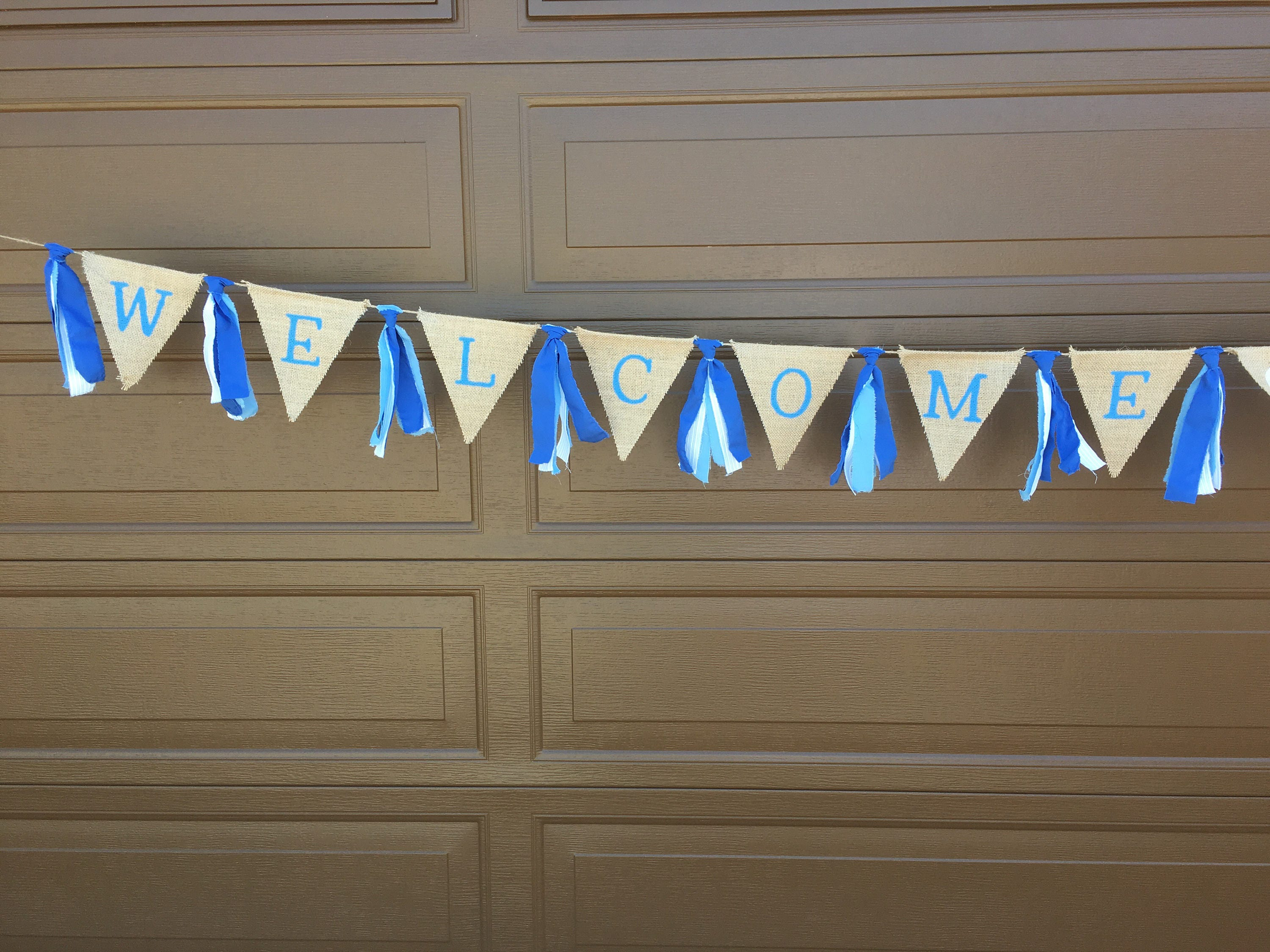 Welcome Home Banner Welcome Home Decor Welcome Baby Banner