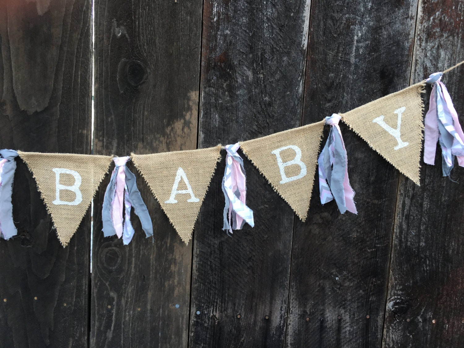 oh baby oh baby banner burlap banner baby shower baby girl new