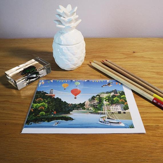 Clifton suspension bridge bristol greeting card etsy reheart Images