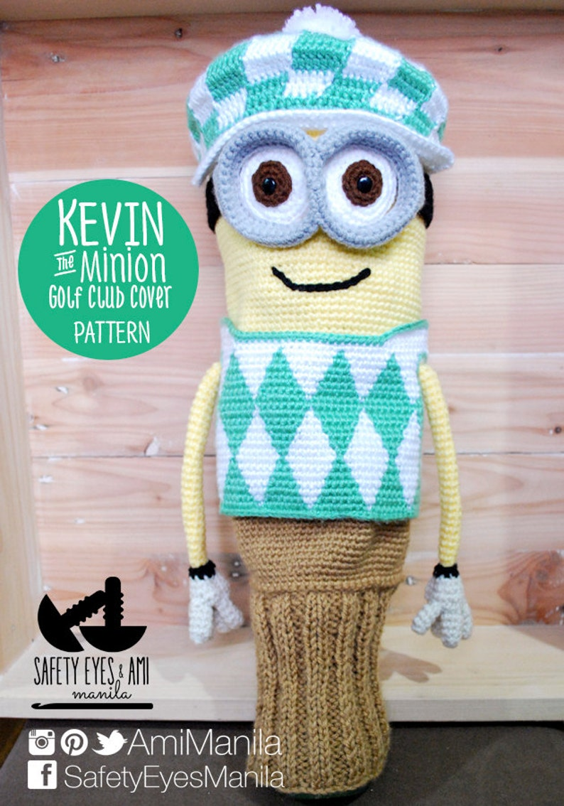 Kevin the Minion Golf Club Cover Pattern image 0