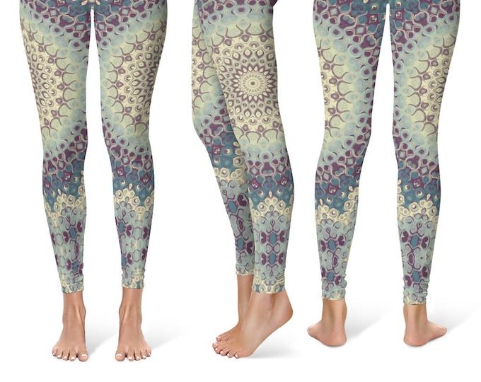 Mandala Leggings Yoga Pants, Printed Yoga Tights for Women, Festival Clothing, Club Wear