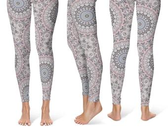 Mandala Leggings Yoga Pants, Printed Leggings for Women, Spandex Yoga Tights