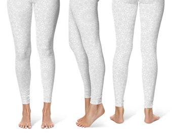 Bridesmaid Leggings Gift Ideas, Bachelorette Party Gifts for Bride, White Leggings, Yoga Wedding