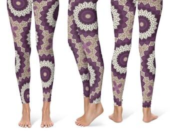 Yoga Pants, Leggings for Women With Designs, Mandala Pattern Printed Leggings