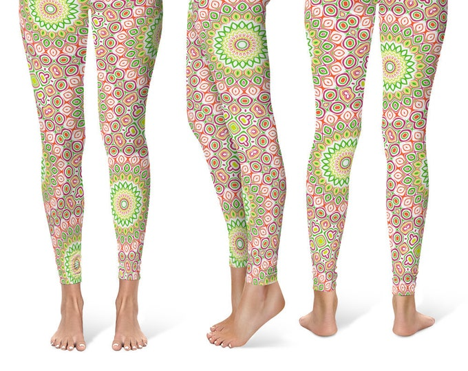 Fun Leggings, Bright Colorful Yoga Pants for Women, Hippy Clothes
