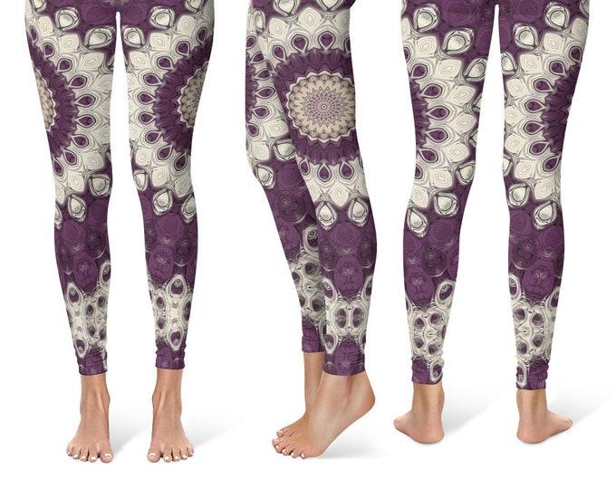 Bold Leggings Yoga Pants, Big Printed Yoga Tights for Women, Festival Clothing