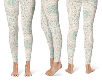 Summer Leggings Yoga Pants, Cute Yoga Tights, Printed Leggings for Women