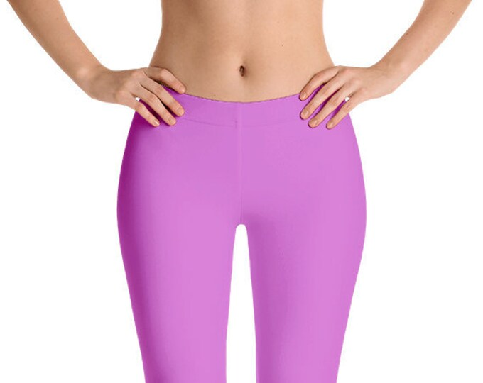 Orchid Leggings Yoga Pants, Solid Color Yoga Tights for Women, Workout Clothes
