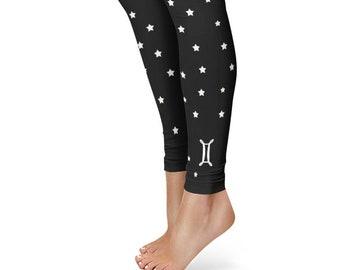 eb145c1843527 Gifts for Gemini Leggings, Zodiac Birthday Leggings, Star Sign Yoga Pants