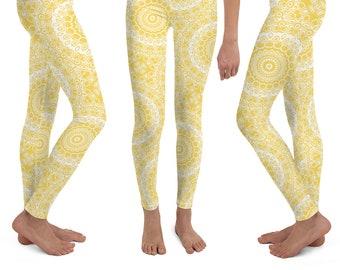 8d1b6e0e2c1 Girls Mustard Yellow Leggings Yoga Pants