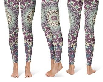 8dae63f4ccc38 Funky Leggings Yoga Pants, Printed Yoga Tights for Women, Wild Mandala  Pattern