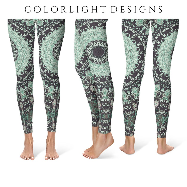 Wild Leggings Yoga Pants Printed Yoga Tights for Women Aqua image 0
