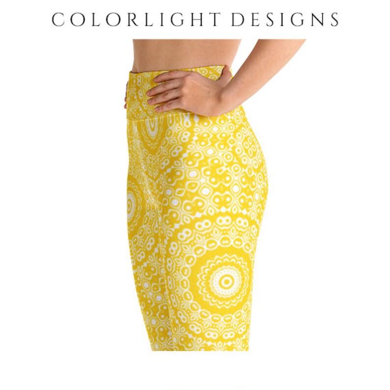High Waist Gold Leggings Yoga Pants Printed Yoga Tights for image 0