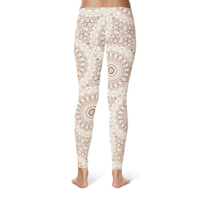 Mandala Pattern Tights Tribal Yoga Pants Boho Leggings