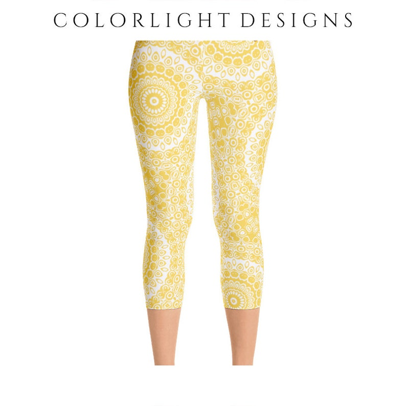 READY TO SHIP Mustard Yellow Leggings in Size Extra Small image 0