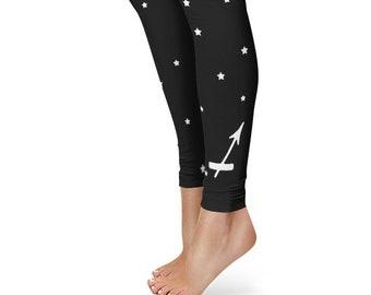 Gifts for Sagittarius Leggings, Zodiac Birthday Leggings, Star Sign Yoga Pants