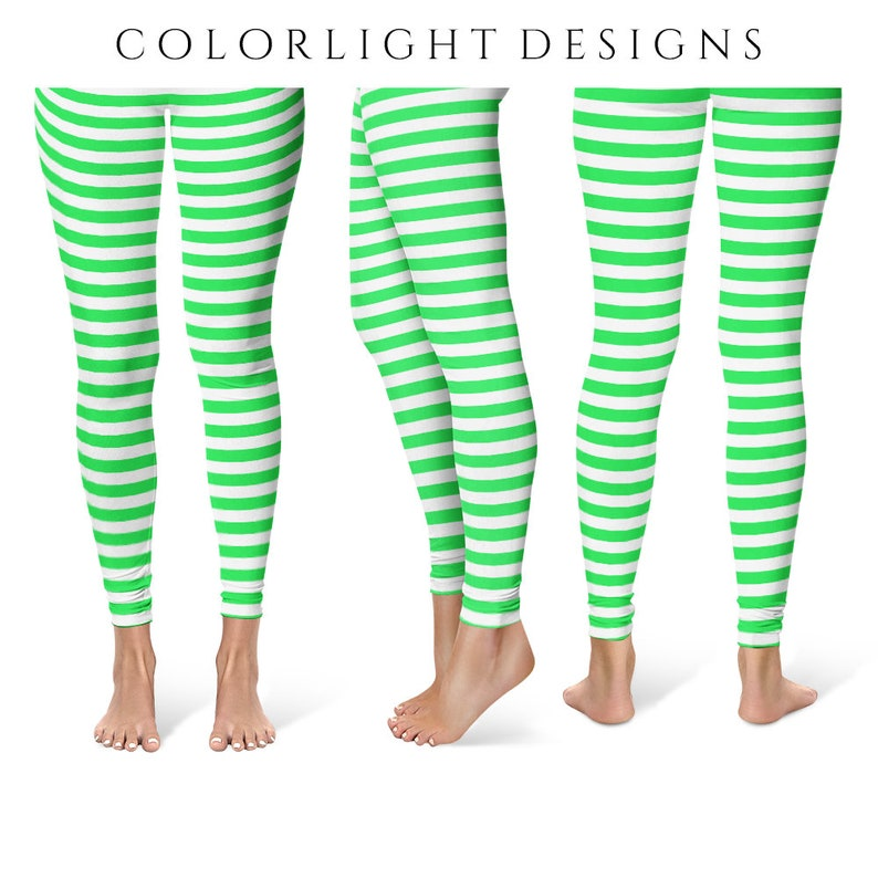 b2b3e9c9764db Leprechaun Leggings Yoga Pants Striped Yoga Tights for Women | Etsy