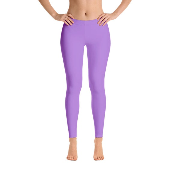 promo code sale online 100% high quality Lavender Yoga Leggings, Solid Purple Yoga Tights for Women