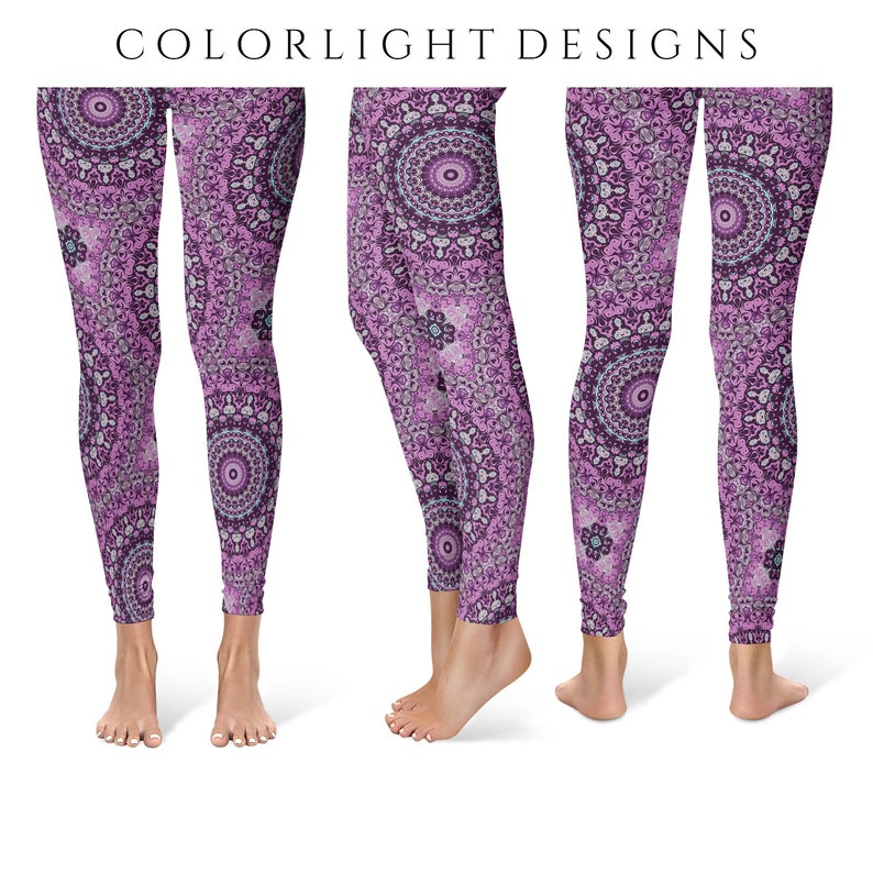 Mandala Leggings Yoga Pants Printed Yoga Tights for Women image 0