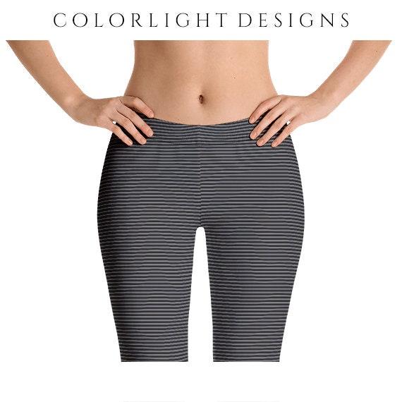 Women Leggings Yoga Pants Women Workout Leggings Striped Yoga Leggings