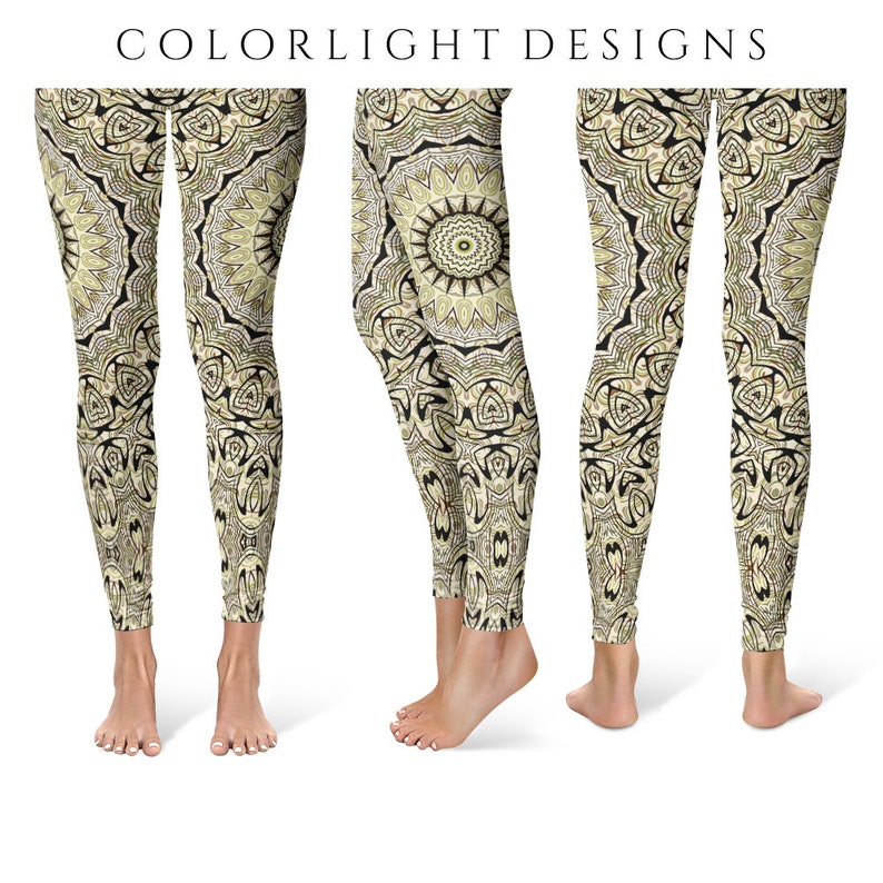 Rustic Leggings Tribal Yoga Pants Unique Patterned Tights image 0