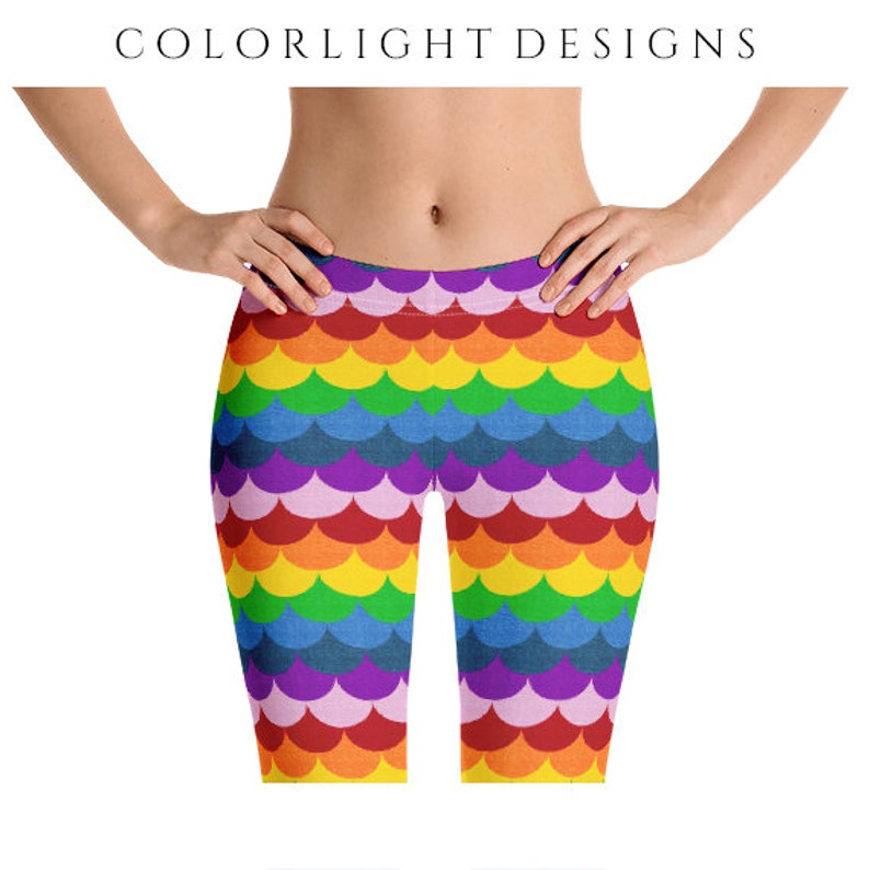 Rainbow Leggings Yoga Pants Multicolor Yoga Tights Bright image 0