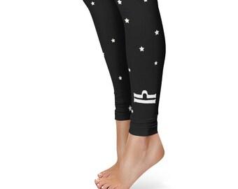 Gifts for Libra Leggings, Zodiac Birthday Leggings, Star Sign Yoga Pants