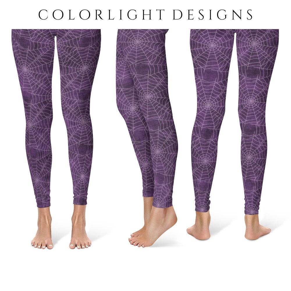 Spider Web Leggings Yoga Pants Halloween Yoga Tights For