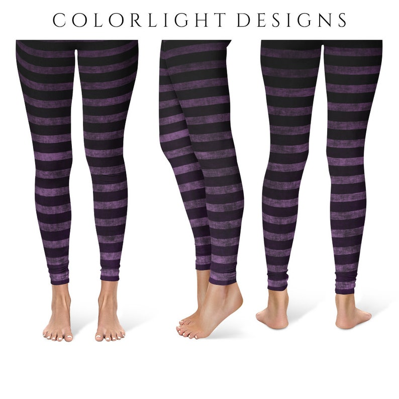 5daed9a327110 Witch Leggings Yoga Pants Striped Yoga Tights for Women in | Etsy