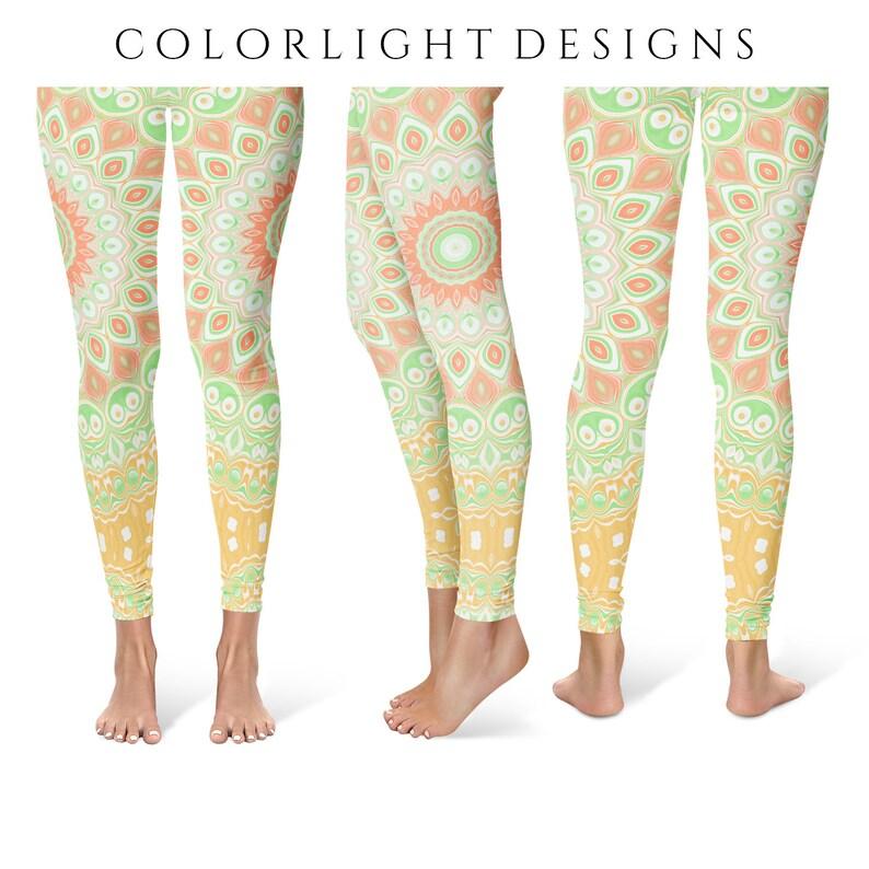 Summer Yoga Leggings Whimsical Printed Leggings for Women image 0