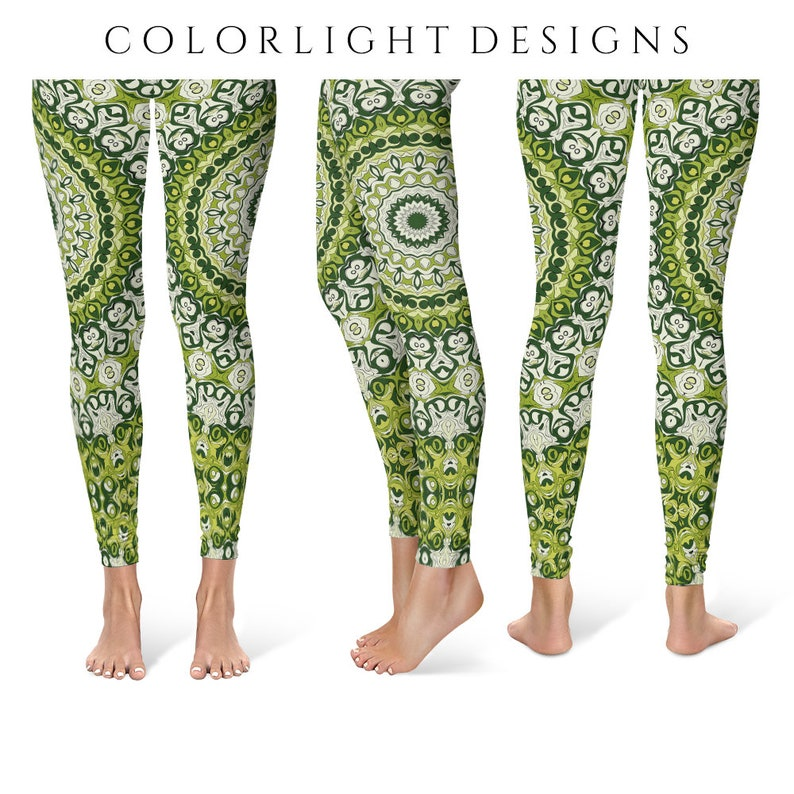 Wild Leggings Yoga Pants Printed Yoga Tights for Women Green image 0