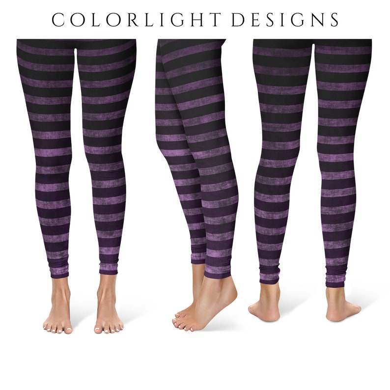 Witch Leggings Yoga Pants Striped Yoga Tights for Women in image 0