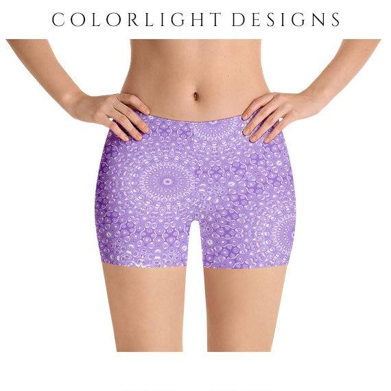 7414cdaa83a2e Amethyst Yoga Shorts Workout Clothing Plus Size Short | Etsy