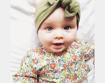 Blue Stripe Headband  Baby HeadbandToddler HeadbandBaby ShowerBaby BowNewborn GiftBaby GiftBlue stripe Headband