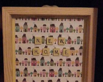 Tile art scrabble art frame  New Home picture
