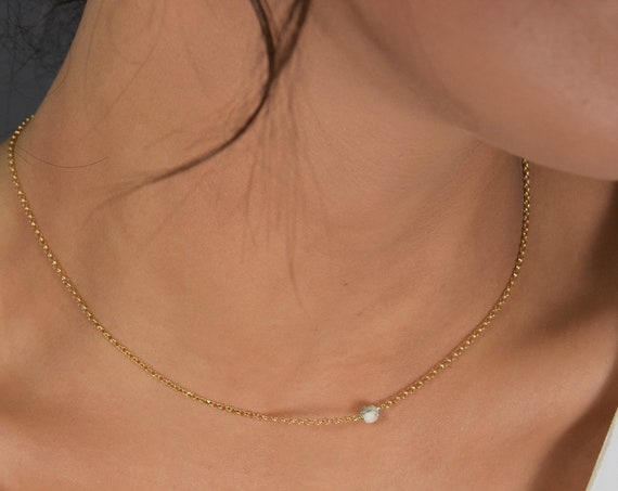 Tiny Marble Necklace