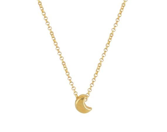 Tiny Moon Necklace